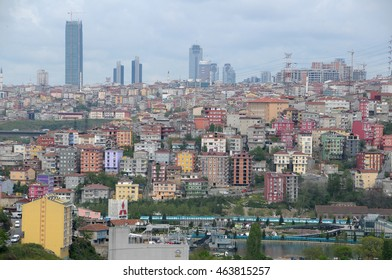 ISTANBUL, TURKEY - MAY 05, 2009: View of the city from the terraces of Café Pierre Loti in Eyup