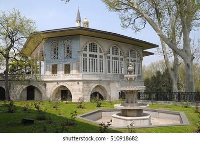 ISTANBUL, TURKEY - MAY 05, 2009: Buildings and gardens inside the Topkapi Palace