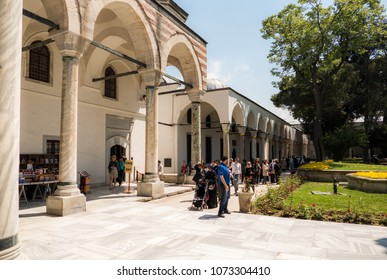 Istanbul, Turkey - May 07, 2016: Inside Topkapi Palace in Istanbul. Topkapi is Ancient Residence of Turkish Sultans