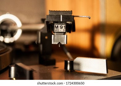 ISTANBUL, TURKEY - MAY 07, 2020: Shure M91 MG-D Hi-Fi Turntable Catrtidge and its needle