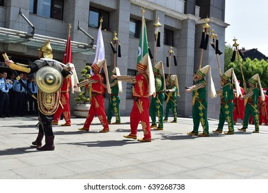 ISTANBUL, TURKEY - May 10, 2017: Ottoman military band Mehter