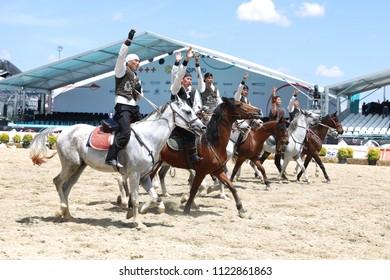 ISTANBUL, TURKEY - MAY 12, 2018: Riding Show during Etnospor Culture Festival