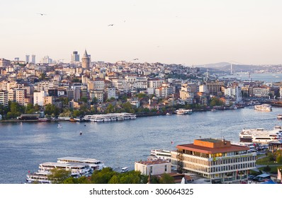 ISTANBUL, TURKEY - MAY 13, 2015: Panorama of Istanbul, view from above, Turkey
