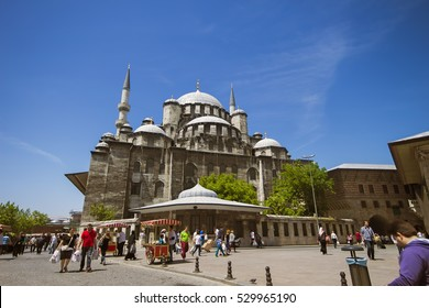 ISTANBUL, TURKEY - May 14, 2016; Istanbul, Turkey Eminonu New Mosque Mosque