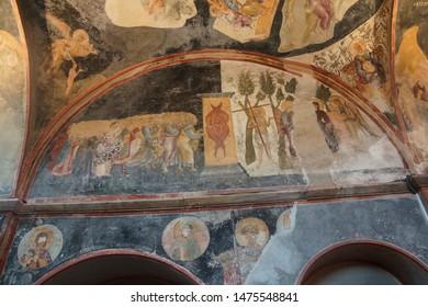 ISTANBUL, TURKEY - MAY 15, 2014 - Fresco of  the apostles, Chora Church (Kariye Muzee ) in Istanbul, Turkey