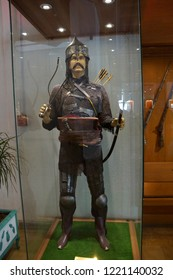 ISTANBUL, TURKEY - MAY 16, 2014 - Ottoman archer with chain mail,  Askeri Military Museum in Istanbul, Turkey