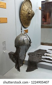 ISTANBUL, TURKEY - MAY 16, 2014 - Military shield in Askeri Museum,  in Istanbul, Turkey