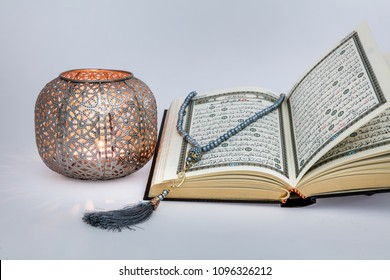 Istanbul , Turkey - May 17, 2018 ; Quran - holy book of Muslims around the world.  Ramadan concept