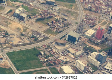 ISTANBUL, TURKEY - MAY 2, 2016: Beautiful views of the city from above, aerial photography