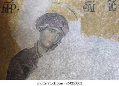 ISTANBUL, TURKEY - MAY 20, 2016: Mosaic with the representation of Christ Pantocrator. Considered one of the most beautiful mosaics of Byzantine art. 13th century in Hagia Sophia in Istanbul, Turkey