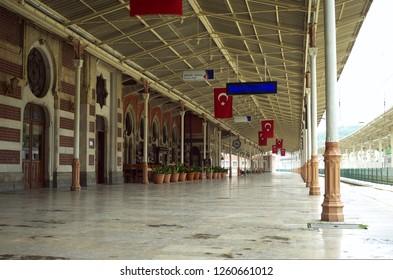 ISTANBUL, TURKEY - MAY 2012:  Old Platform (Orient express station) on Sirkeci railway station, Istanbul, Turkey.