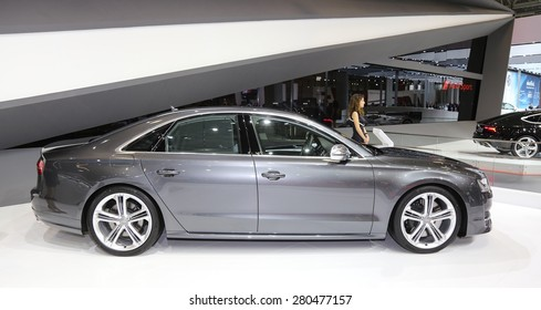 ISTANBUL, TURKEY - MAY 21, 2015: Audi S8 in Istanbul Autoshow 2015