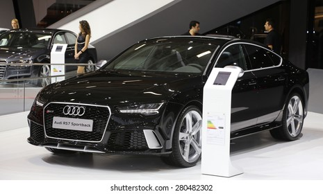ISTANBUL, TURKEY - MAY 21, 2015: Audi RS 7 Sportback in Istanbul Autoshow 2015