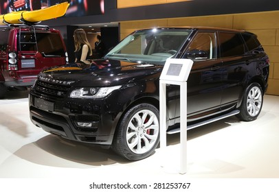 ISTANBUL, TURKEY - MAY 21, 2015: Land Rover Range Rover Sport in Istanbul Autoshow 2015