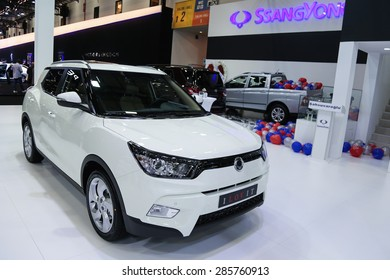 ISTANBUL, TURKEY - MAY 21, 2015: SsangYong SUV in Istanbul Autoshow 2015