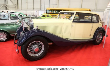 ISTANBUL, TURKEY - MAY 21, 2015: 1934 Rolls-Royce 20/25 Freestone and Webb Coupe in Istanbul Autoshow 2015