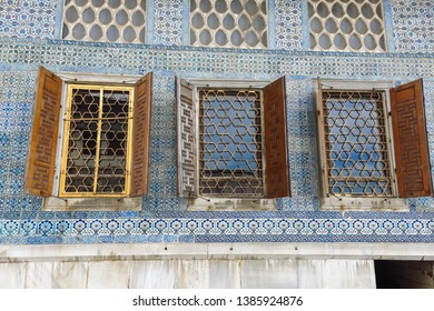 ISTANBUL, TURKEY - MAY 22, 2016 - Courtyard at the Topkapi Palace, Istanbul, Turkey. Topkapi Palace was the primary residence of the Ottoman sultans for approximately 400 years