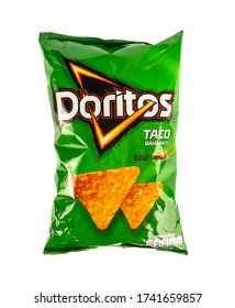 ISTANBUL, TURKEY - MAY, 23, 2020: DORITOS CHIPS. A pack of Doritos Taco Spicy from Istanbul, Turkey.