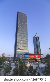 Istanbul, Turkey, May 24, 2016: Istanbul Sapphire Tower on May 24, 2016. Located in 4th Levent, business district of Istanbul, Sapphire is the tallest building of Turkey.