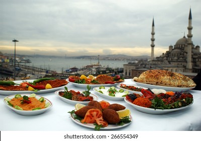 ISTANBUL, TURKEY - MAY  24: Turkish food dishes Eminonu square on May 24, 2006 in Istanbul, Turkey.