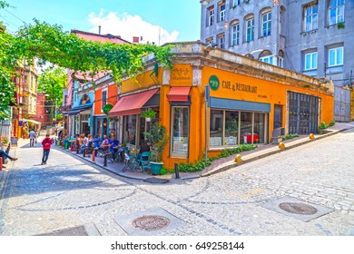 Istanbul, Turkey - May 28, 2017: Street view from Balat district of Fatih, Istanbul. Balat is one of the oldest neighborhoods in Istanbul with interesting architectural style and social diversity.