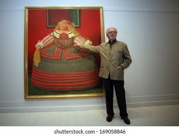 ISTANBUL, TURKEY - MAY 3: Famous Colombian artist Fernando Botero on May 3, 2010 in Istanbul, Turkey. Fernando Botero Angulo (born 1932) is a figurative artist and sculptor from Medellin, Colombia.