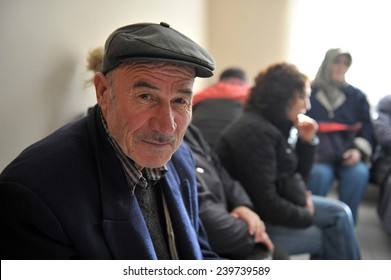 ISTANBUL, TURKEY - NOV 01, 2010: unidentified Patients waiting to be examined at the hospital  on November 01, 2010 Istanbul,Turkey