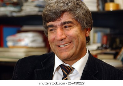 ISTANBUL, TURKEY - NOV   3:  Turkish Journalist of Armenian orgin Hrant  Dink's portrait   on  November  3, 2006 in Istanbul, Turkey.  Hrant Dink was killed on 19 January 2007