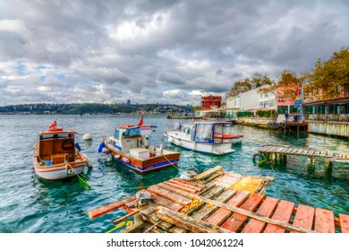 Istanbul, Turkey - November 05, 2017 : Cengelkoy coast HDR view in Istanbul. Istanbul is populer tourisy destination in Turkey.