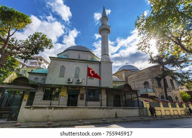 Istanbul, Turkey - November 05, 2017 : Kuzguncuk Mosque and Surp Krikor Lusaveric Church view in Kuzguncuk District of Istanbul. Kuzguncuk is historical district of Istanbul.