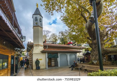 Istanbul, Turkey - November 05, 2017 : Hamdullah Pasha Mosque, view in Istanbul. Istanbul is populer tourist destination in Turkey.