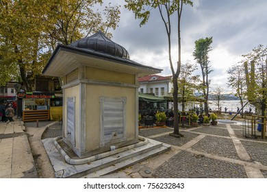Istanbul, Turkey - November 05, 2017 : Cengelkoy iskele square view in Istanbul. Istanbul is populer tourist destination in Turkey.