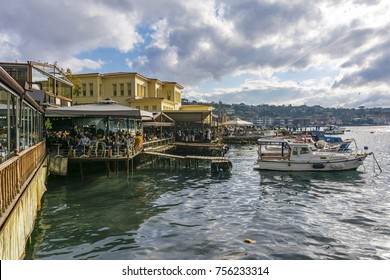 Istanbul, Turkey - November 05, 2017 : Cengelkoy coast view in Istanbul. Istanbul is populer tourist destination in Turkey.