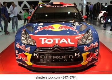ISTANBUL, TURKEY - NOVEMBER 07: Citroen DS3 WRC at 13th International Auto Show on November 07, 2010 in Istanbul, Turkey.