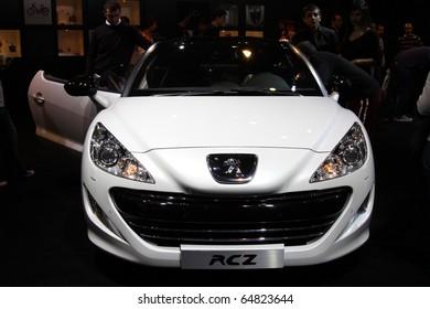 ISTANBUL, TURKEY - NOVEMBER 07: Peugeot RCZ at 13th International Auto Show on November 07, 2010 in Istanbul, Turkey.