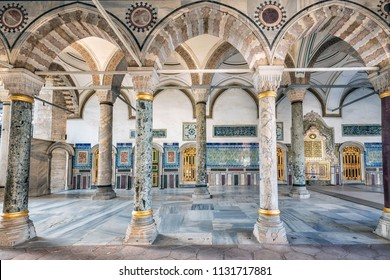 ISTANBUL, TURKEY - NOVEMBER 16, 2016: Ancient Ottoman residence Topkapi Palace Istanbul, Turkey.