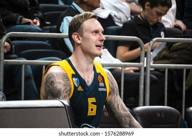 ISTANBUL / TURKEY, NOVEMBER 28, 2019: Janis Timma during EuroLeague 2019-2020 Round 11 basketball game between Fenerbahce Beko and Khimki Moscow at Ulker Sports Arena.