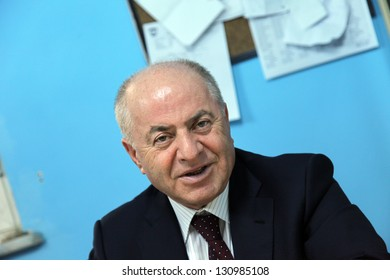 ISTANBUL, TURKEY - NOVEMBER 28: Kadikoy District Mayor Selami Ozturk at press meeting on November 28, 2012 in Istanbul, Turkey. Since the mid-1990s the mayor has been Selami ��zt�¼rk in Kadikoy.