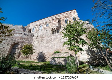 ISTANBUL, TURKEY, NOVEMBER 9, 2019: Exterior shot of Tekfur Palace, a late 13th-century Byzantine palace in the north-western part of the old city of Constantinople (present-day Istanbul, Turkey).