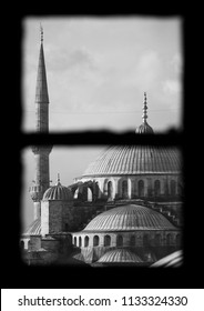 Istanbul, Turkey Oct 2015: The domes of the Blue Mosque, Sultan Ahmet, Istanbul