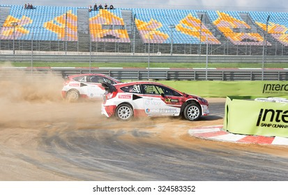 Istanbul, Turkey -  October 03, 2015:  Ford Team drivers racing with each other.