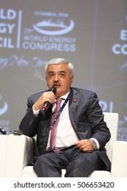 ISTANBUL, TURKEY - OCTOBER 10: Azerbaijani businessman and SOCAR oil company CEO Rovnag Abdullayev portrait at the 23rd World Energy Congress on October 10, 2016 in Istanbul, Turkey.