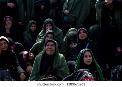 Istanbul, Turkey - October 11, 2016 : Shia muslums pray in the mourning of Ashura (asura or asure) Karbala In the city of Istanbul of Halkali province of Turkey.