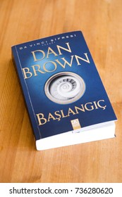 """Istanbul, Turkey - October 12, 2017: Turkish edition of the novel """"Origin"""" written by the famous author Dan Brown. Turkish title is """"Baslangic"""""""