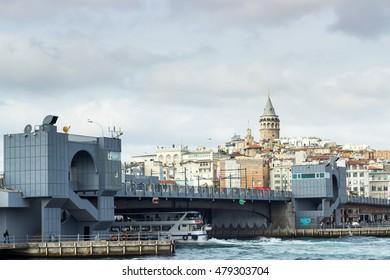 Istanbul, Turkey - October 16, 2015 : Walk along the Bosporus