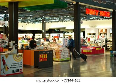 ISTANBUL, TURKEY - OCTOBER 2017: Duty Free shop in Istanbul Ataturk Airport (IST) on October 28, 2017 in Istanbul, Turkey.