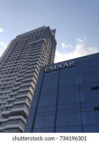Istanbul Turkey October 2017:Emaar Shopping Mall
