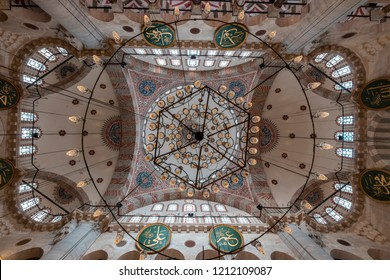 ISTANBUL - TURKEY October 2018, Kilic Ali Pasha Mosque, built by Kaptan-i Derya Kilic Ali Pasha in 1580 in Tophane district of Istanbul, the famous Ottoman architect Sinan.
