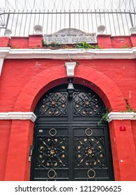 Istanbul, Turkey - October 21, 2018: Ahrida Synagogue in Balat district of Istanbul. Balat is one of the oldest neighborhoods in Istanbul with interesting architectural style and social diversity.