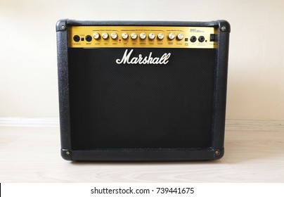 Istanbul, Turkey, October 22, 2017: Shot of a Marshall 30DFX Amplifier